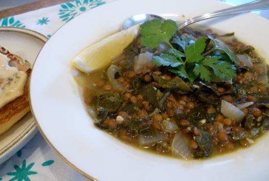 Lentil & silverbeet soup